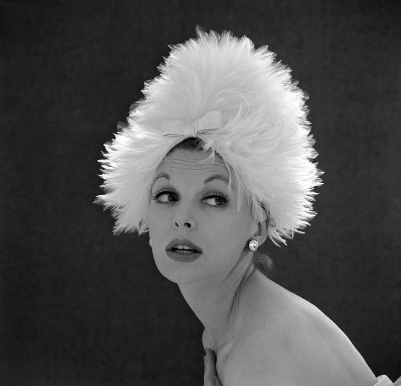 White Feathered Hat
