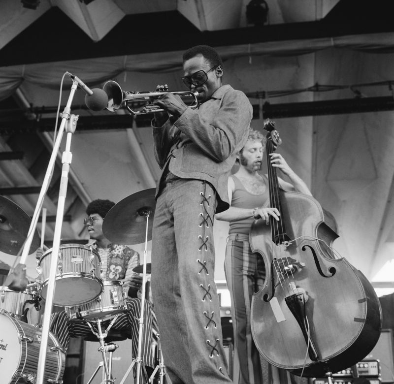 Miles Davis performs at the Newport Jazz Festival