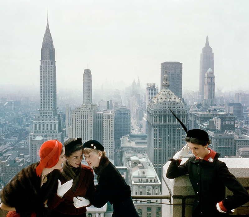 Fashion models in New York, for Vogue