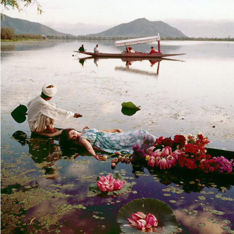 Floating With Flowers