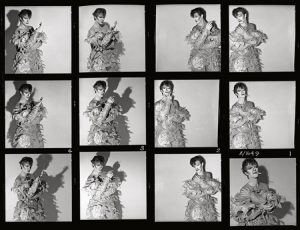 David Bowie Scary Monsters Contact Sheet